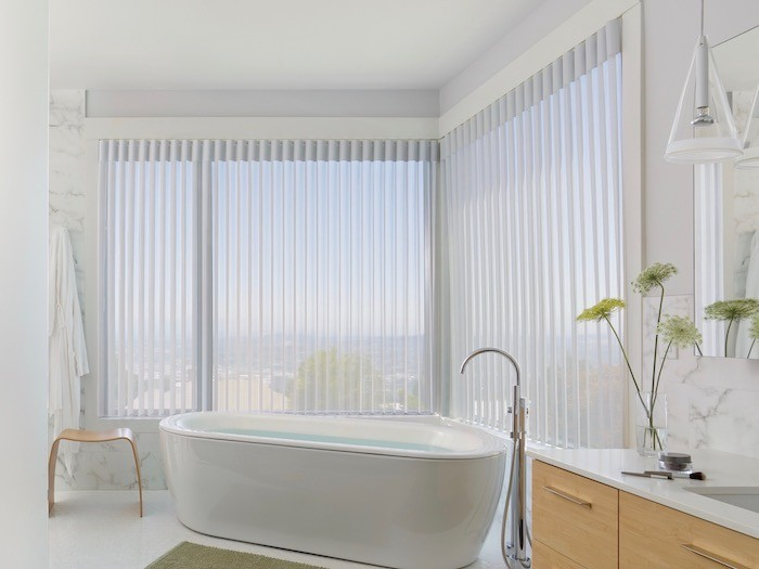 Luminette® Privacy Sheers are ideal for large windows.
